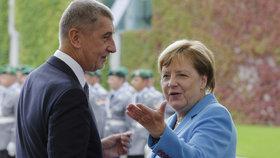Andreje Babiše přijala kancléřka Merkelová v Berlín s vojenskými poctami (5.9.2018)