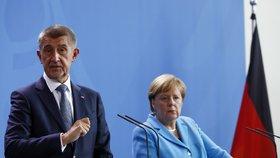 Andrej Babiš na první oficiální návštěvě Německa jednal s kancléřkou Angelou Merkelovou (5. 9.)