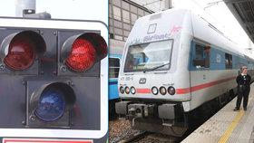 Rychlík dnes ráno v železniční stanici v Uherském Hradišti srazil člověka