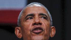 Exprezident Barack Obama na setkání demokratů v Kalifornii, kde vyprávěl historku o kouření ze svého mládí.