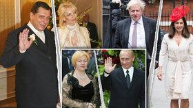 Petr Paroubek se rozvádí s manželkou Petrou, rozvod čeká i britského exministra Johnsona. Rozvedený je již třeba i ruský prezident Vladimir Putin.