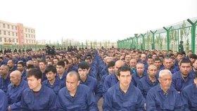 Přes milion muslimů v Číně skončí na převýchovu v internačních táborech, (ilustrační foto).