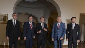 Na Pražském hradě se sešli vrcholní ústavní činitelé, aby společně probrali zahraniční politiku Česka (12. 9. 2018).