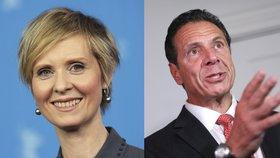 Cynthiu Nixon porazil ve volbách stávající guvernér New Yorku Andrew Cuomo.