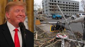 Trump proti sobě poštval Portoričany, tvrdí, že na následky hurikánu Maria nezemřely 3 tisíce lidí.