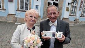 Jaroslav Kubera s manželkou Věrou. Jsou svoji už 50 let.
