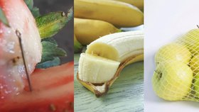 Austrálie řeší další nebezpečné ovoce. Kromě jahod už se jehly objevily i v banánu a jablku.