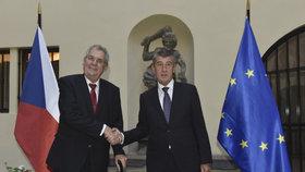 Jednání vlády o rozpočtu se účastnil i prezident Zeman. Vážné výhrady neměl.