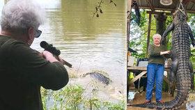 Seniorka (73) zastřelila aligátora jedním výstřelem: 3metrové zvíře jí před třemi lety zabilo milovaného poníka!