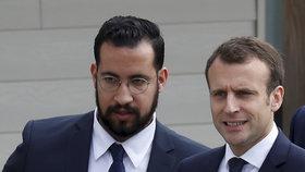 Prezident Francie Emmanuel Macron a jeho bodyguard Alexandre Benalla.
