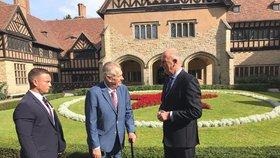 Prezident Miloš Zeman na návštěvě Německa