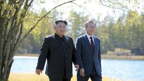 Korejští lídři na procházce.