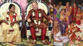 Poprask v Bengálském zálivu: Čech Lukáš si vzal Indku a stal se hvězdou mezinárodní televize!
