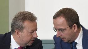Ministr životního prostředí Richard Brabec představil další novinky v programu Dešťovka spolu s ředitelem Státního fondu životního prostředí Petrem Valdmanem (25.9.2018)
