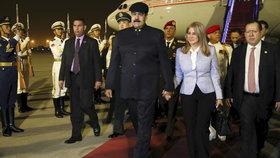 Venezuelský prezident Nicolás Maduro s manželkou Cilií Floresovou