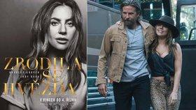 Snímek Zrodila se hvězda s Lady Gaga a Bradley Cooperem v hlavních rolích vstupuje do českých kin 4. 10. 2018.