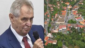 Miloš Zeman zvažuje koupi pozemku v Mnichovicích nedaleko Prahy.