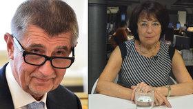 Andrej Babiš a senátorka za ANO Eva Syková