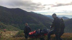 Při nehodách nebo kvůli zdravotním potížím zemře ve slovenských horách každoročně několik českých turistů.