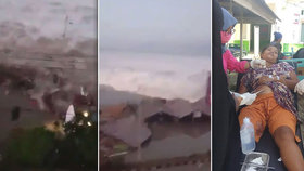 Tsunami a zemětřesení zasáhly indonéský ostrov Sulawesi.