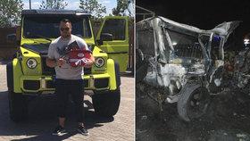 Nepochopitelnou chybou zabil sebe i nevinného řidiče, policie popsala šílenou jízdu Jana Kočky ml. (28): Předjel kamion, pak to do něj napálil!