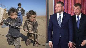 Andrej Babiš syrské sirotky přijmout odmítá. Slovenský premiér Pellegrini to nevyloučil.
