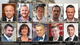 deset kandidátu na pražského primátora