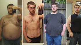 Neuvěřitelná proměna muže (30), kterého pomalu zabíjelo jídlo: Zhubl 70 kg!