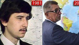 Andrej Babiš před revolucí a dnes. Pracoval i v Maroku, kde pobýval i během sametové revoluce.