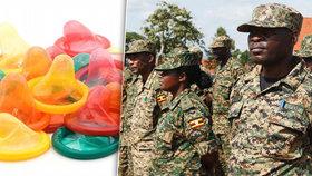 Ugandská armáda představila vlastní značku kondomů pro vojáky.