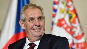Prezident Miloš Zeman v Jízdárně Pražského hradu (5. 10. 2018)