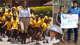 Melanie se během návštěvy Malawi setkala s demonstranty, v Keni si zajela na safari a do dětského domova.