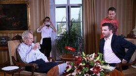Miloš Zeman v pořadu S prezidentem v Lánech (7.10.2018)