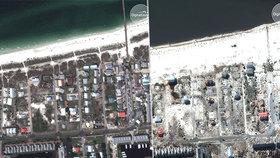 Hurikán Michael smetl město Mexico Beach na Floridě
