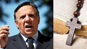 Nastupující premiér kanadského státu Quebec François Legault vyvolal pozdvižení prohlášením, že křesťanský kříž (krucifix) není náboženský symbol. Jeho vláda chce přitom veřejným činitelům zakázat nošení nábožensky zabarveného oblečení, jakým je např. muslimský hidžáb nebo židovská jarmulka (13.10.2018).