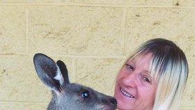 Linda s manželem krmí divoké klokany už 15 let.