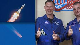 Američan Nick Hague a Rus Alexej Ovčinin promluvili o nezdařilém letu Sojuzu a nouzovém přistání.
