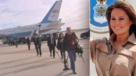 Letadlo první dámy USA se muselo vrátit na letiště, palubu zaplnil kouř. Všichni cestující jsou v pořádku, (17.10.2018).
