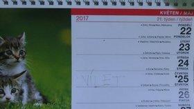Chlapeček si do kalendáře napsal, že po operaci pojede na výlet.