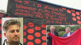 Velkolepá vzpomínka na kamaráda. Slavná holešovická stěna připomíná tragicky zesnulého člena Ztohoven