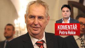 Petr Holec komentuje poslední počínání prezidenta Miloše Zemana