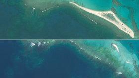 Havajský ostrov zmizel pod hladinou moře.