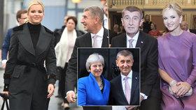 Andreje Babiš vzal Moniku s sebou do Londýna. Zatímco ladil návštěvu britské premiérky Theresy Mayové, Babišová se sháněla po zapomenutých šatech.