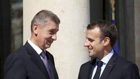 Macron se sejde s premiérem Babišem v pátek večer