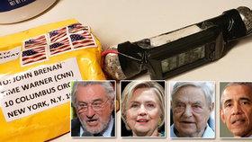 Balíčky s trubkovýmo bombami mířily k De Nirovi, Hillary Clintonové, Sorosovi či Obamovi