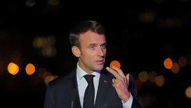 Francouzský prezident Emmanuel Macron (26. 10. 2018)