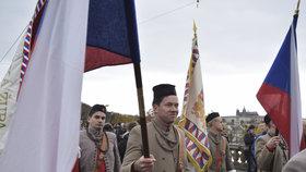 Sokolové a jejich příznivci pochodovali Prahou.