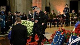 Prezident Miloš Zeman ve Vladislavském sále