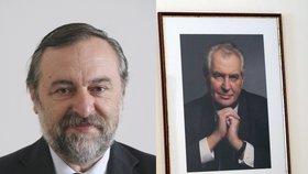Ředitel teplického gymnázia Zdeněk Bergman a prezident Miloš Zeman