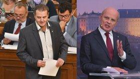 Komunistický poslanec Zdeněk Ondráček (KSČM) a neúspěšný prezidentský kandidát Michal Horáček